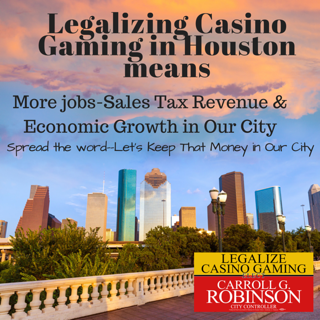 Vote for Carroll G. Robinson, Controller, City of Houston